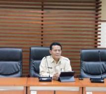 Kabag Humas Tumpak Hutabarat menerima audiensi DPRD Pemprov Banten
