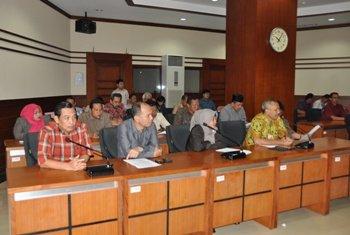 Pimpinan dan Anggota DPRD Komisi A, BKD dan perwakilan K2 Kabupaten Jepara.