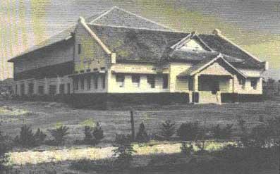Gedung Bagian Pensiun dan Tunjangan yang berada di Jl Suropati 50 Bandung