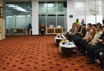 Kepala BKN Eko Sutrisno memberi arahan dalam Penandatanganan Perjanjian Kerjasama Bapertarum PNS dengan BKN