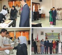 Rangkaian acara Pelantikan Pejabat Administrasi Kantor Regional XII BKN Pekanbaru.