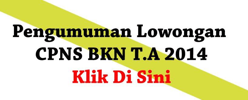 Pengumuamn Lowongan CPNS BKN T.A 2014 Klik Di Sini