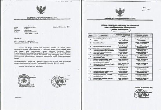 Surat Palsu Kepala BKN