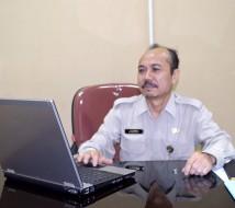 Kepala Bagian Hubungan Media dan Pengaduan Masyarakat Herman di ruang kerjanya di BKN Pusat.