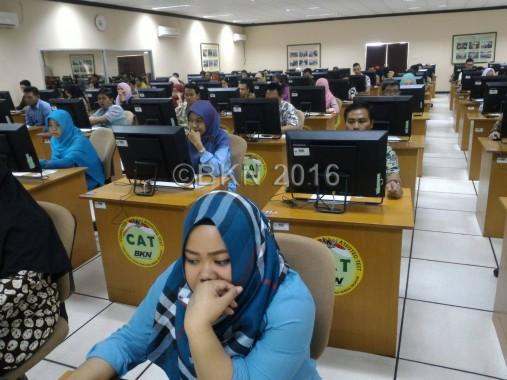 175 peserta calon pegawai non-PNS LKPP mengikuti tes. (foto: Did)