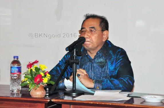 Sekretaris Utama, Usman Gumanti berikan arahan. (foto: Dok. Renkal)