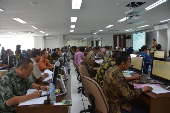 96 orang peserta talent pool JPT yang merupakan pegawai di instansi Pusat dan dan daerah. (foto: didik)