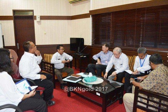 Delegasi dari AIPEG, Rabu melakukan kunjungan ke Kantor Pusat BKN. (foto: mia)