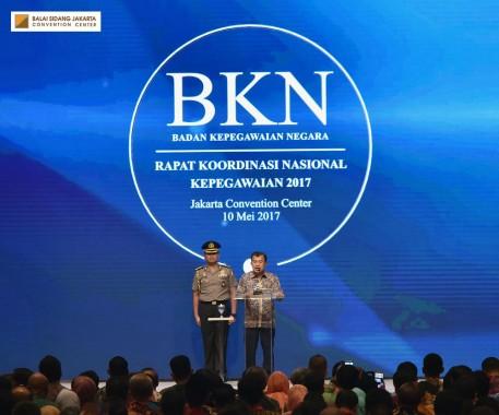 Rakornas Kepegawaian dibuka secara langsung oleh Wakil Presiden Republik Indonesia Jusuf Kalla. (dok. JCC)