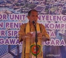 """""""Maluku beruntung dengan berdirinya UPT ini,"""" demikian disampaikan Said Assagaff. (foto: Wika)"""
