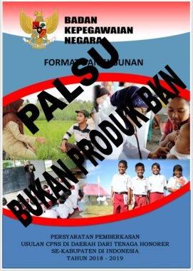 Juknis Persyaratan Pemberkasan Usulan CPNS Honorer Th 2018-2019 Beredar, BKN: Itu Bukan Produk BKN