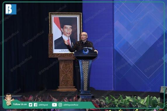 Kepala BKN, Bima Haria Wibisana dalam Rapat Koordinasi (Rakor) Perencanaan ASN Tahun 2020-2024 dan Pengadaan ASN Tahun 2019 di Jakarta Selatan, Selasa (30/07/2019)